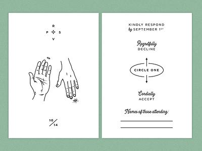 RSVP rsvp hands typography type stationary invite ring engagement invitation wedding