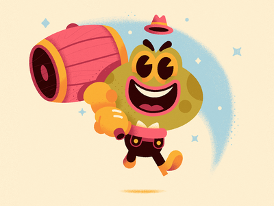 Hammer Time! vintage retro cartoon hammer frog character design vector illustration