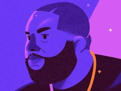 Killer Mike hip hop rap portrait vector illustration