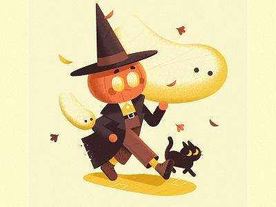 Happy Halloween! halloween dribbbleweeklywarmup character design character vector illustration
