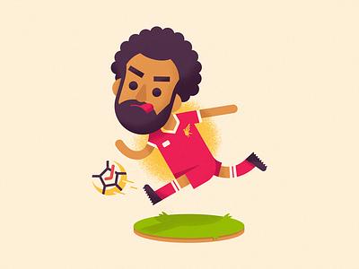 Salah premier league illustration soccer football salah liverpool
