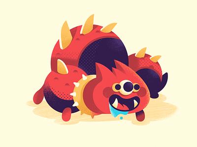 Spike illustrator rpg character design monster creature vector illustration
