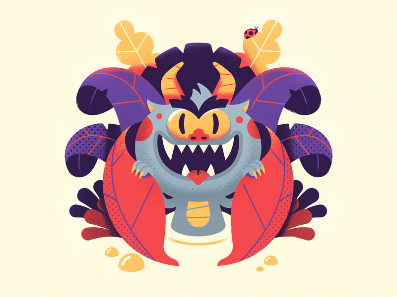 Imp vector art rpg creature monster swamp forest character design vector illustration