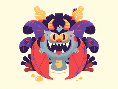 Imp vector art rpg creature monster swamp forest character design vector illustration