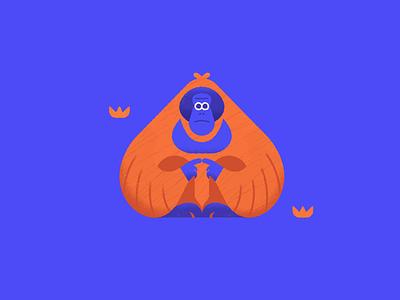 Orangutan - Warmup #4 orangutan dribbbleweeklywarmup cute vector animal icon illustration