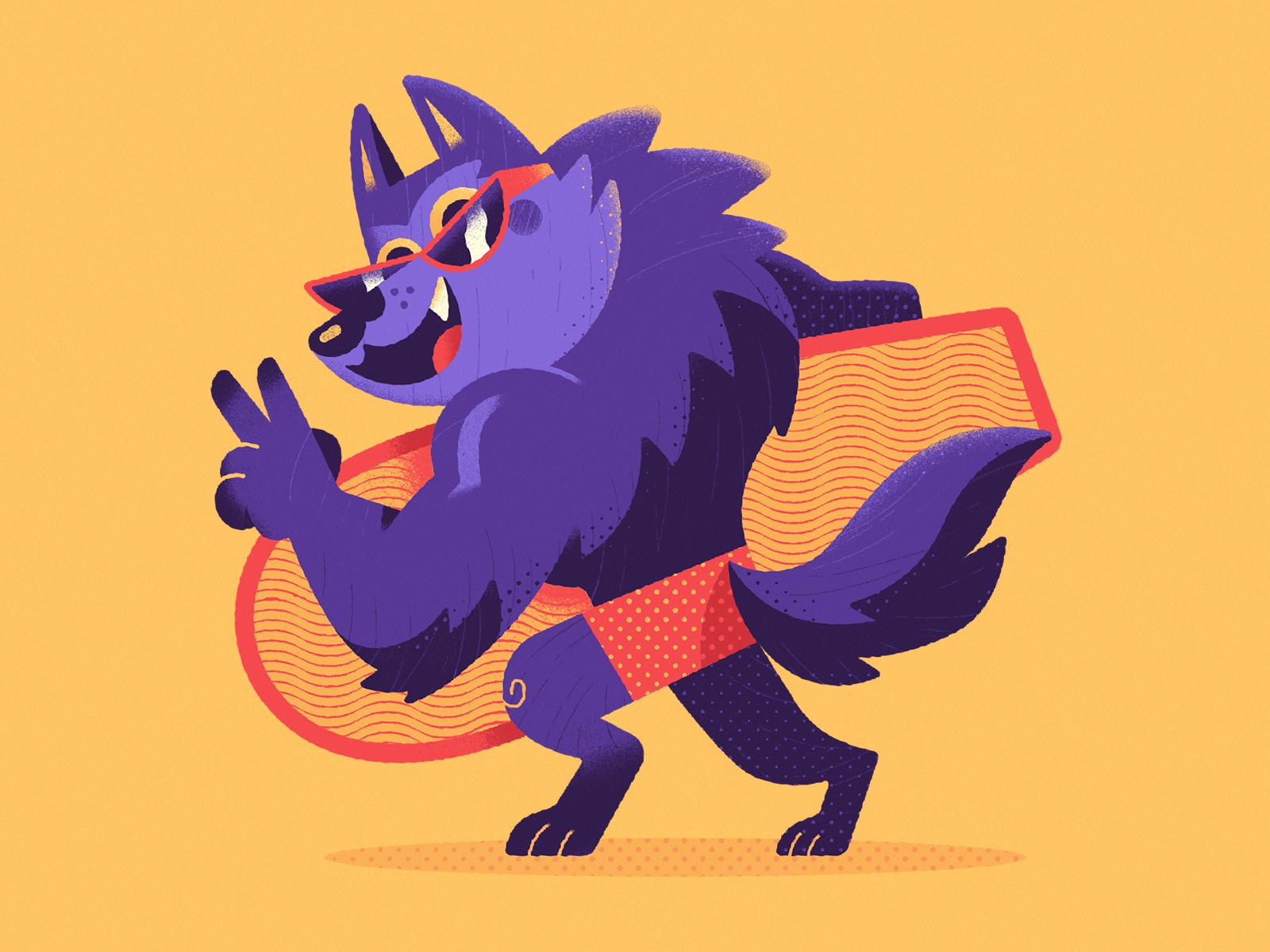 Werewolf dribbble