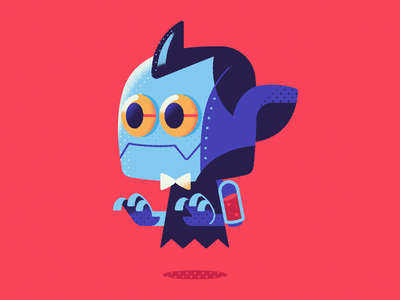 Botsferatu - Warmup #6 warmup dribbbleweeklywarmup icon vector illustration halloween robot vampire