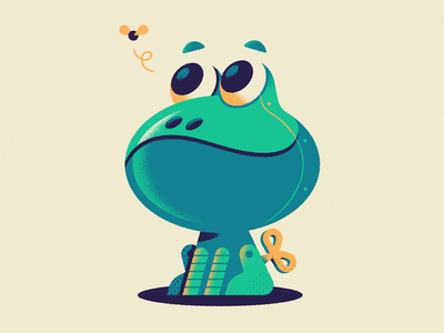 Robotoad vector character design frog toad toy robot inktober illustration character