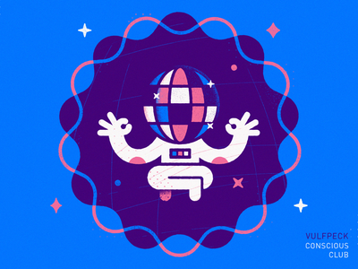 Conscious Club - Warmup #15 warmup dribbbleweeklywarmup vector art icon astronaut space vector illustration vulfpeck