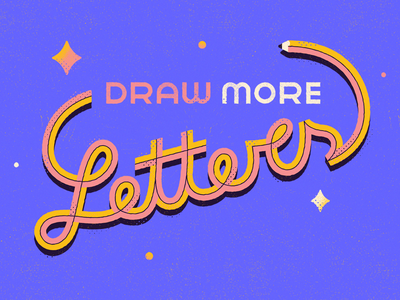Draw More Letters - Warmup #18 typography lettering pencil vector warmup dribbbleweeklywarmup illustration