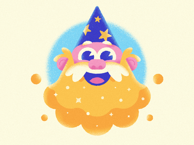 Warmup #19 - The Wizard's Brew dribbbleweeklywarmup character design character vector star illustration beard magic wizard beer