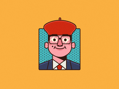 Rushmore - Warmup #20 wes anderson dribbbleweeklywarmup rushmore icon character vector illustration portrait
