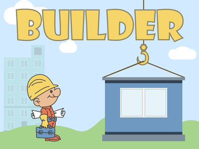 Builder | Weekly warm-up #76 retro game builder illustration figma dribbbleweeklywarmup