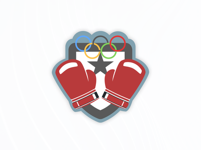 Boxing Badge warmup figma olympic games badge boxing week 77 dribbbleweeklywarmup