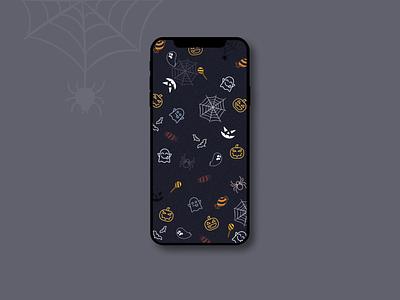 Halloween wallpaper pumpkin ghost spider iphone 13 wallpaper halloween dribbbleweeklywarmup figma