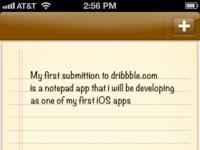 iOS notepad app