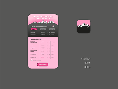 DailyUI #004 #005 calculator icon dailyui web ux ui dailyuichallenge daily 100 challenge