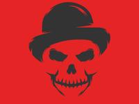 Bowler Hat Skull