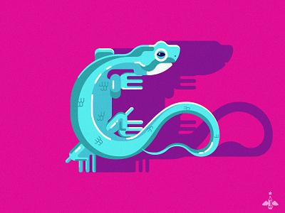 Daily Doodle - Lizard blue pink adobe illustrator contrast color flat flat design amphibian lizards vector art vector illustration vector daily art daily illustration daily doodle illustration