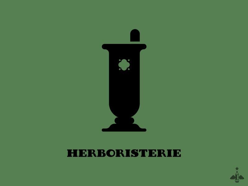 Daily Exercise - Herbalist Shop Logo vector illustration flat design minimalism minimalist contrast black green typography logo design herboristerie herbalist branding graphic design design illustration vector logo creation logotype logo