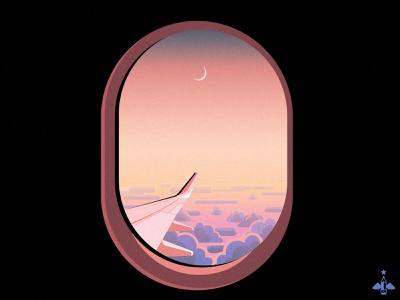 Daily Doodle Exercise - Plane Window blue adobe illustrator contrast digital illustration vector sky clouds travel plane window plane window texture gradients flat flat design daily vector vector illustration daily exercise daily doodle daily art