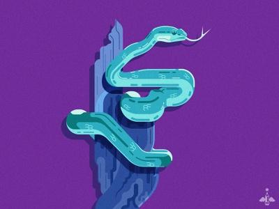Daily Doodle Exercise - Snakey II vector illustrations product design graphic design design digital illustration adobe illustrator vector logo minimalism geometry limited palette contrast purple blue snake vector illustration vector artist vector art flat design daily doodle daily art