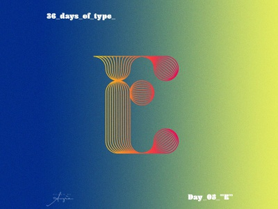 "36 Days of Type - #05 - ""E"" design vector art pink orange contrast minimalism geometry gradients type custom font font 36dayoftype typography vector illustration vector artist daily art vector 36daysoftype 36daysoftype08"