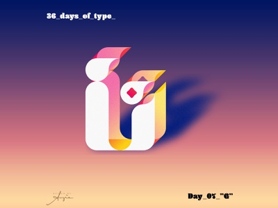 "36 Days of Type - #07 - ""G"" design purple yellow pink gradients contrast daily doodle vectorart vector illustration grid geometry minimalism vector custom font 36daysoftype07 typography font g 36daysoftype08 36daysoftype"