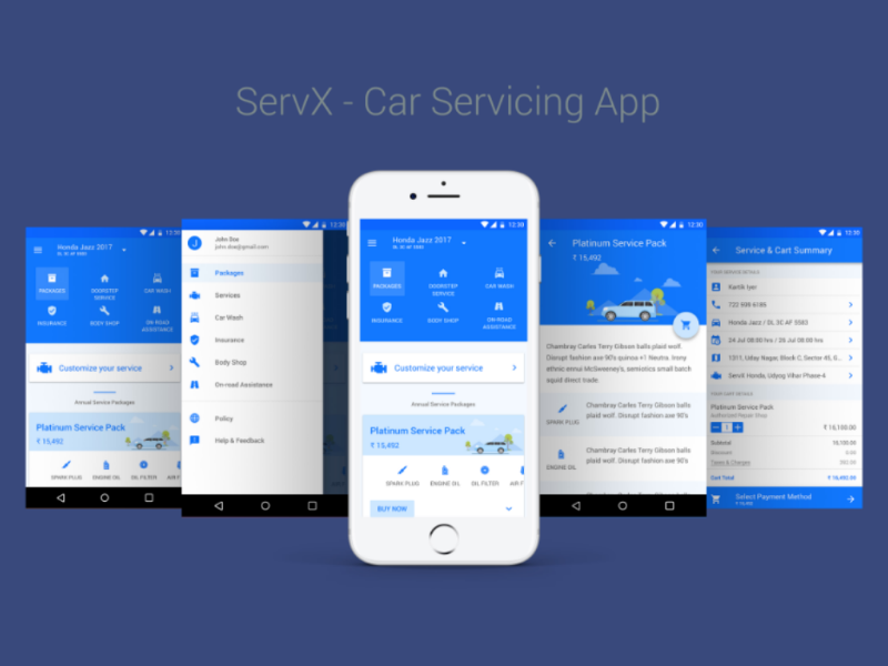 Car service App interaction visual design user experience user interface