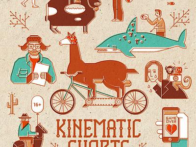 Kinematic Shorts spring drawing graphic design vector movie poster illustration irinastepanova