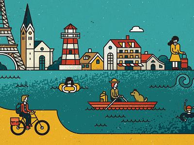 Trip Secrets design graphic illustration irinastepanova vector poster travel