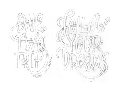 OneTwoTrip print travel trip dreams typography onetwotrip print lettering illustration irinastepanova