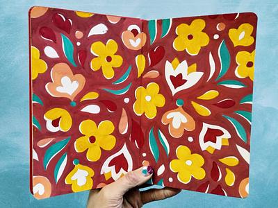 Pattern sketchbook sketch flower pattern illustration sketchbook irinaklmn irinaklimina