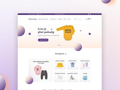 Kids Fashion Online Store logo figma uxui ui branding typography 2021 design landingpage graphic design ecommerce children fashion fashion kids web design