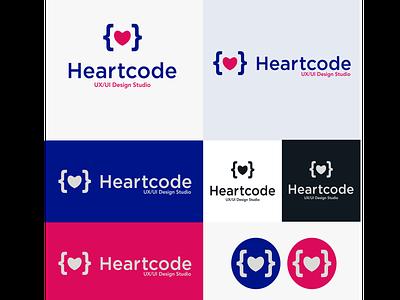 Heartcode Logo Design minimal web typography ui minimal logo illustration icon startup logo logo inspiration ingenious folks design creative agency logo design logo graphic design corporate identity branding brand identity