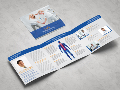 Spine Center Brochure graphic design illustrator brochure doctor spine doctor spine center spine
