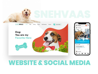 Pet Rescue Website & Social Media website design donate for dog donate for animals donate food donate dog social media template pet rescue pet social media homepage website
