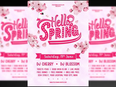 Spring Party Flyer + Social Media Post