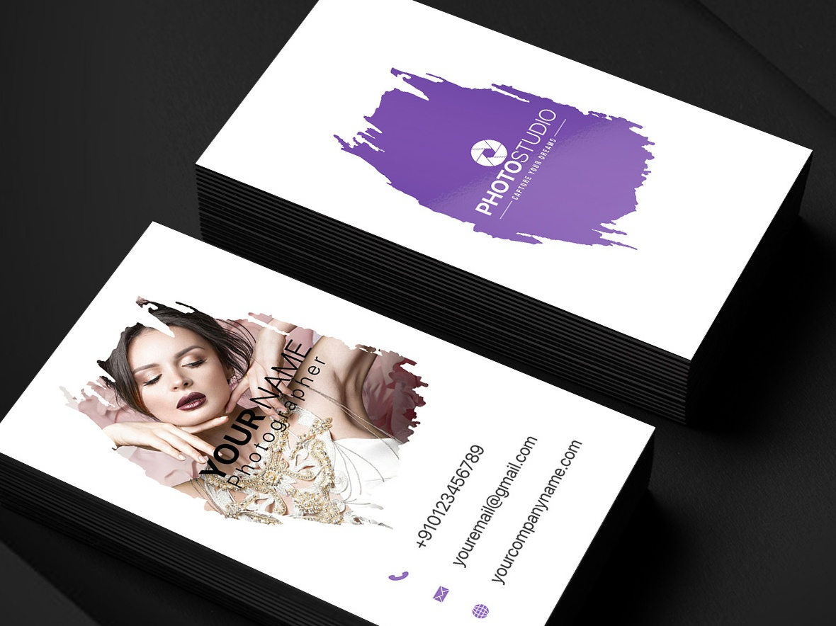 Clean Photographer Business Card photography photo studio business card photo studio card photo studio business card template business card design business card photographer photographer business card