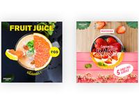 Fruit Juice & Strawberry Tart Social Media