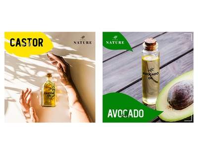 Castor and Avocado Oil Social Media