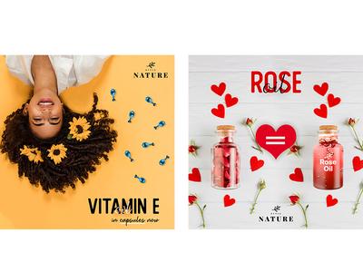 Rose Oil and Vitamin E Capsule Social Media