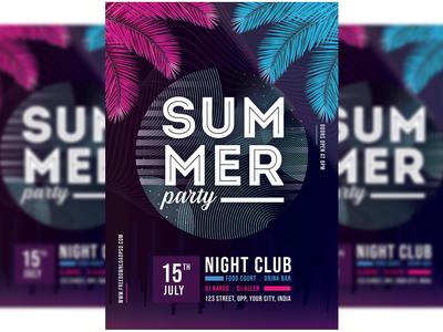 Summer Party Flyer + Social Media