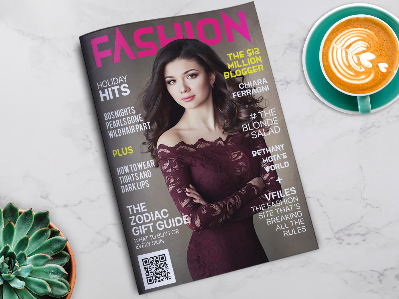 Fashion Magazine Cover typography creative design book fashion fashion magazine fashion model model cover design indesign magazine magazine layout magazine design magazine cover