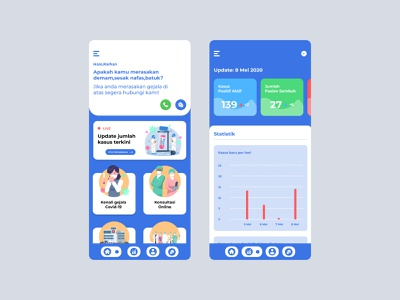 Covid-19 data tracking app interface design uidesign mobile app design app design uiux