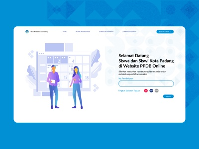 Landing Page for School Online Registration interface design ui design landing page web design