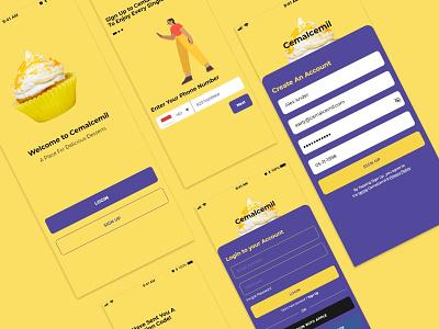 Desserts Shop App interface design uiux mobile app design ui design