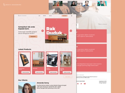 Carpenter E-commerce Web Design ecommerce design woodwork carpenter web design ui design
