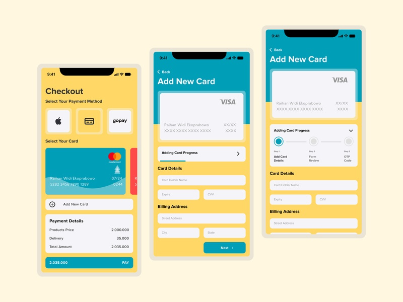 #DailyUI #002-Credit Card Checkout interface design ux design ui design uiuxdesign uiux credit card checkout mobile app dailyui 002 dailyui