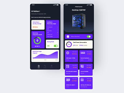 Electricity Calculator App ui  ux electricity app app design ui design uiux design mobile app design uidesign